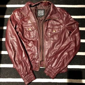 Faux Red Leather Nollie Jacket Small
